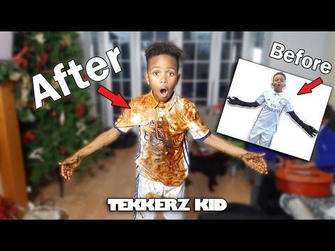 OMG!! REAL MADRID KIT RUINED?? |  EPIC Cleaning Challenge | Tekkerz Kid