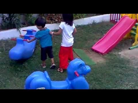 Kids are Playing in School's Garden (Beacon-house Kindergarten Branch) Karachi Pakistan