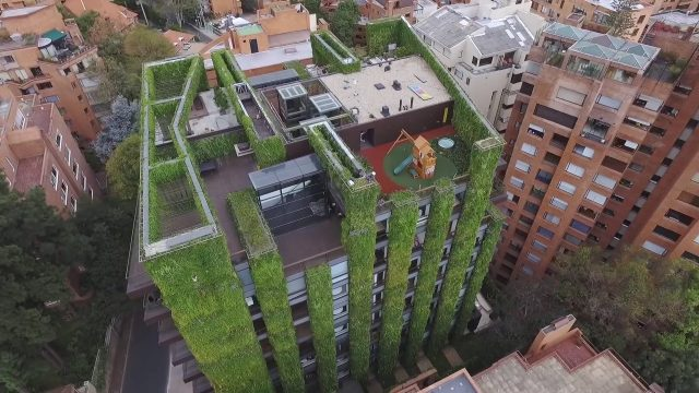 World Largest Vertical Garden – Santalaia building