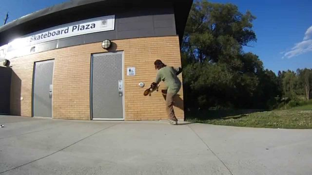 Brock Springstead – Skateboarding Tricks: Wall Plants (slo-mo)
