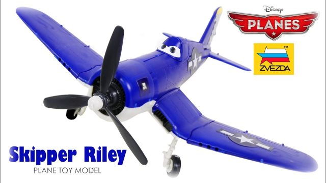 PLANES FOR KIDS VIDEO: Skipper Riley Model Kit Zvezda from Disney Cartoon Toys Review