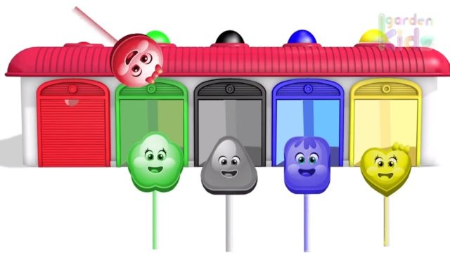 Finger Family w Candy family Colours ! Learn Color Video for kids! Garden Kids TV #6