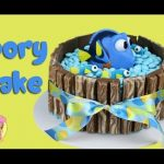 FINDING DORY KIT KAT CAKE – with m&ms and baby dory! Kids birthday cake