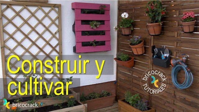 Construir y cultivar huerto urbano vertical con palets (Bricocrack)