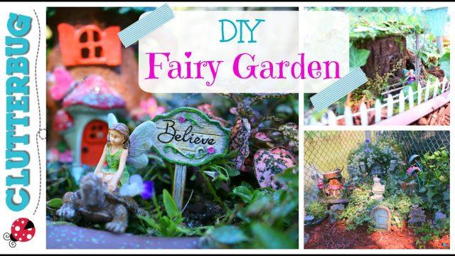 DIY Fairy Garden Ideas and Tour