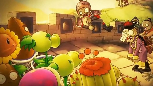 Plants vs Zombies Great Wall Of China Cartoon 3D Animation Trailer (植物大战僵尸)