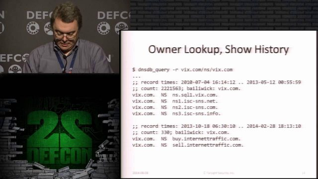 DEF CON 22 – Dr. Paul Vixie – Domain Name Problems and Solutions
