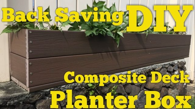 DIY Rot Proof Planter For Wall Tops Made Out of Trex Composite Decking