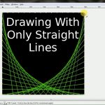 Drawing Curved Green Grid Box With Straight Lines