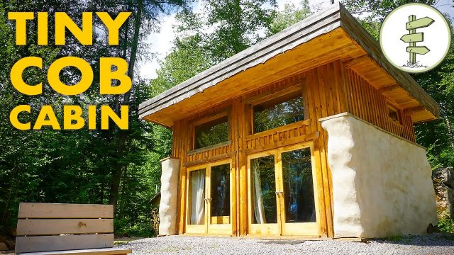 Sustainable Micro Straw Bale Cabin with Passive Solar Green Roof