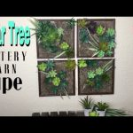 Dollar Tree DIY Pottery Barn Dupe Succulent Wall