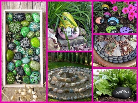 DIY Garden Decoration Ideas with Rocks and Stones