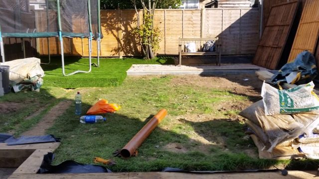 Turning a garden into kids friendly play area