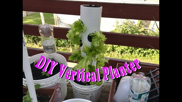 DIY Vertical Planter out of PVC Pipe