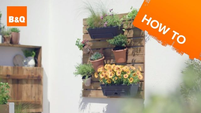How to build a deck tile wall planter