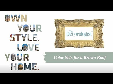 The Decorologist: Color Sets for a Brown Roof
