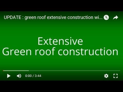 UPDATE : green roof extensive  construction with sedum 700 m²