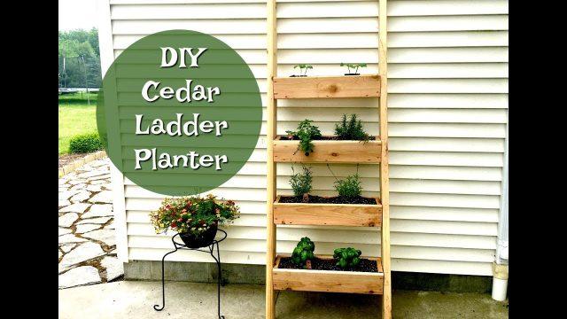 DIY LADDER PLANTER | VERTICAL HERB GARDEN PLANTER | PLANTER BOXES