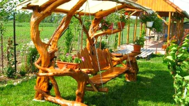 100 Wood Swing and Wood Garden Decoration Ideas 2017 – Pallet Log Creative Ideas