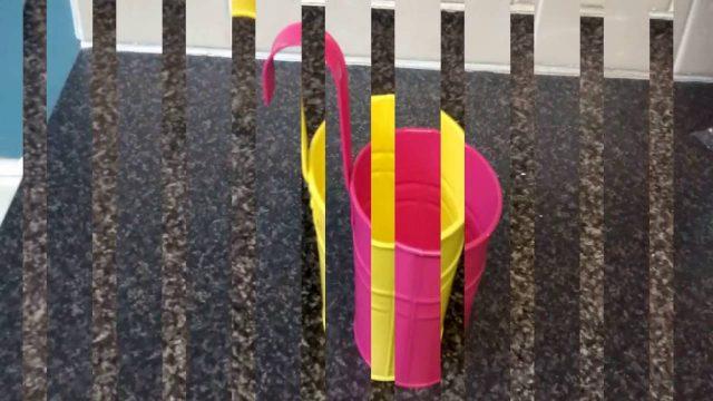 Aidoo 10x Metal Iron Hanging Flower Pots Balcony Garden Pots Planters Wall Hanging Metal Bucket Flow