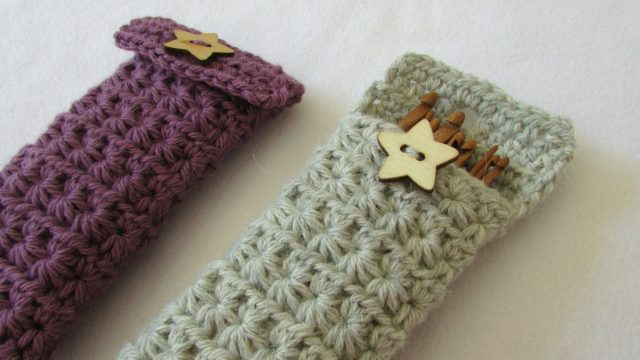 How to crochet a star stitch crochet hook case / holder