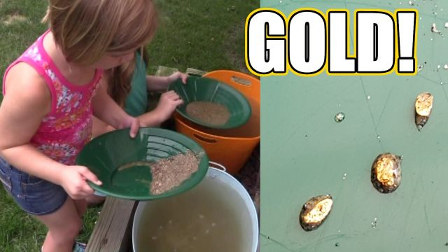 We found GOLD!  Panning for gold kit! | Time For Toys | Babyteeth4
