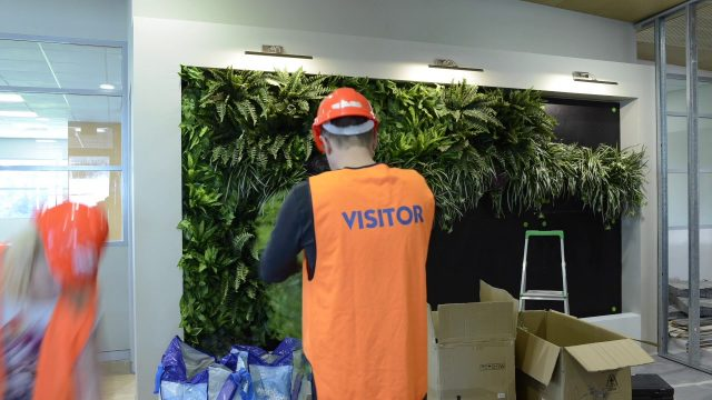 Artificial Vertical Garden Installation for Office Reception