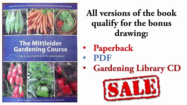New Mittleider Gardening Course Book Drawing 2 and 3 Winners!