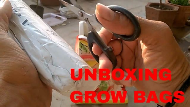 UNBOXING OF GROW BAGS