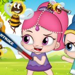 Shimmer and Shine Bitten By Bees When Playing In The Garden! Learn Color With Finger Family Nursery