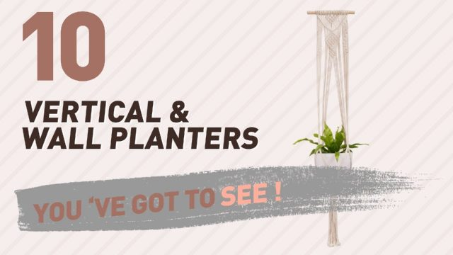 Top 10 Vertical & Wall Planters // New & Popular 2017