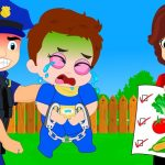 Cartoons Sun & Moon Babies Stealing Fruit In The Garden! Learn Color with Finger Family Song Nursery