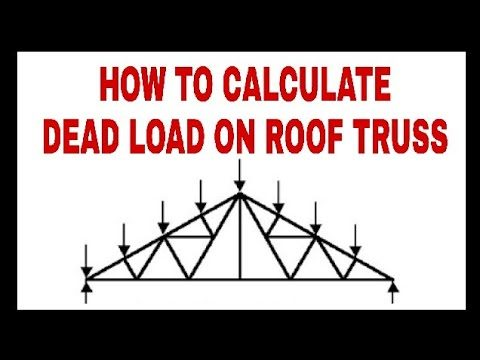 Roof Truss || Dead Load || Live Load || Wind Load Calculations part – 1