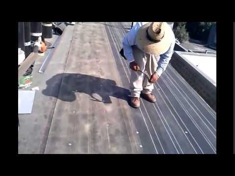 Roll Roofing , how to install a basic flat roof, torch down roofing !