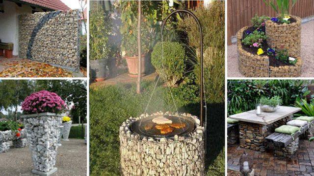 23 Attractive Gabion Garden and Home Ideas | Garden Wall | Garden Seating