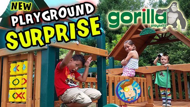 Kids Surprised w/ Huge Backyard Playground! (w/ Skylander Boy and Girl)