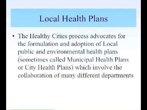 settings examples Healthy Cities