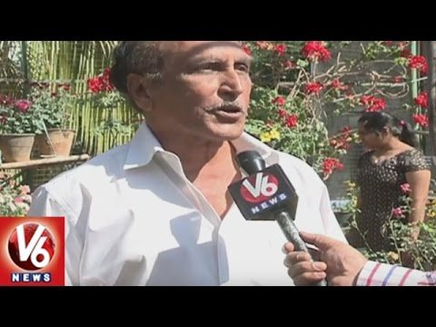 Retired Officer Grows Flowers On Roof Of House | Flower Gardening | Hyderabad | V6 News
