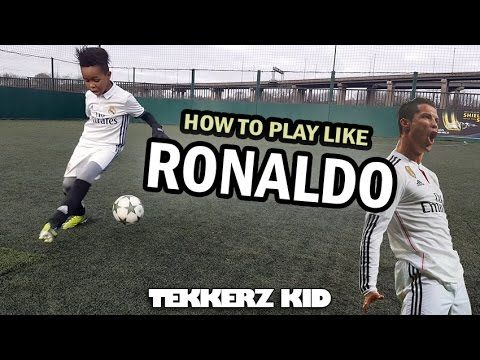 Play Like Ronaldo!! | Cristiano Ronaldo Training Drills!! | Tekkerz Kid