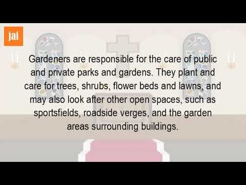 What Is The Job Of A Gardener?
