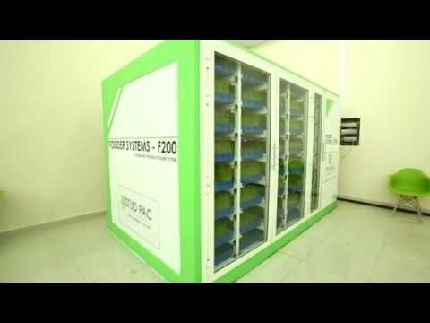 Automated Hydroponics Green Fodder Machine
