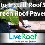 How to Install Pavers on a Green Roof with RoofStone by LiveRoof