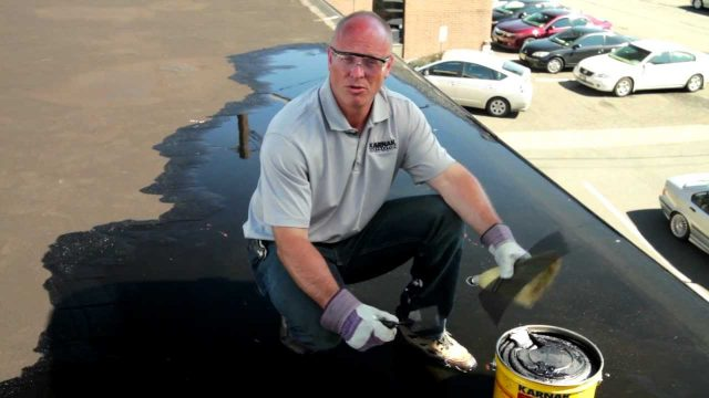 How to repair a flat roof leak Underwater permanently – Karnak 19 Ultra Rubberized Flashing