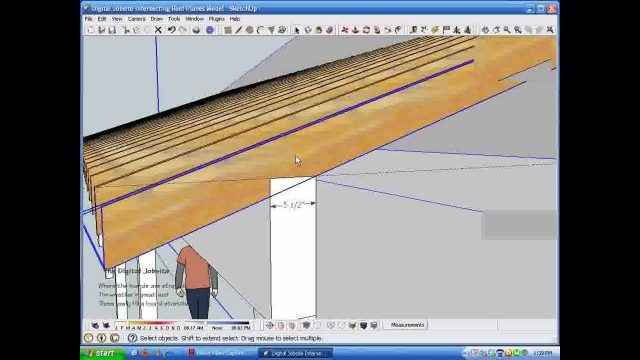 Intersecting Roof Plane Rafter Calculations.wmv