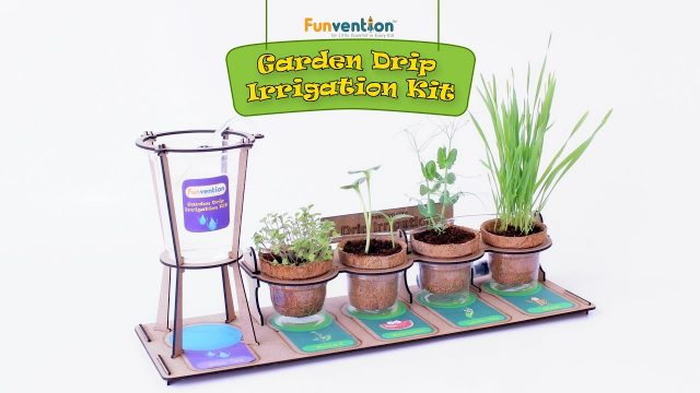 Funvention Garden Drip Irrigation Kit – DIY Science Educational Toy for Kids – Trailer