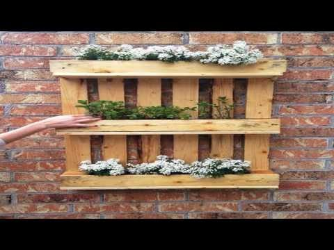 diy fairy Building a Vertical Pallet Garden ideas
