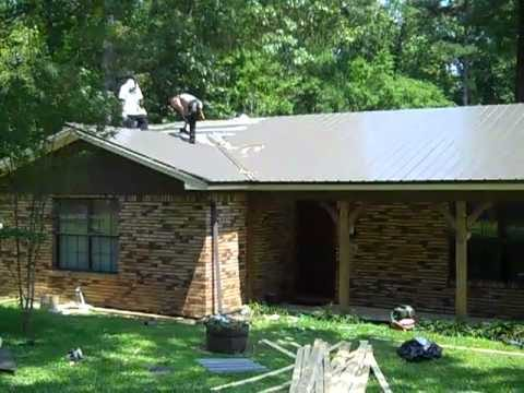 Metal roofing how to | 601 750 2274 | Metal roofing installation over shingles