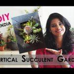 DIY vertical succulent garden, Succulent garden in India, vertical succulent wall planter, Ask Iosis