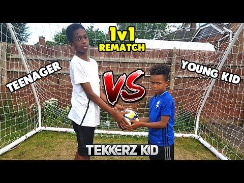 The Rematch! | KID vs TEENAGER 1v1 Football Challenge!! Who Will Win??