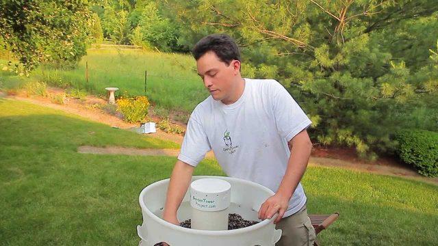Garden Tower Setup: Soil